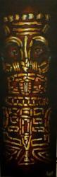 Tahitian Tiki One Toile acrylique 30 x 90