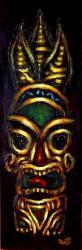 Tahitian Tiki IIToile acrylique 20 x 60