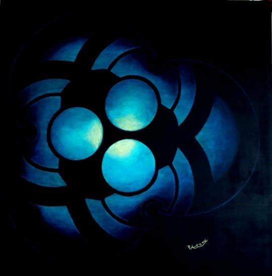 Crop Circle IV , tolie acrylique de 100 cm x 100 cm