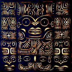 Tahitian-king  Toile acrylique 60 x 60   Trilogie des Pomare